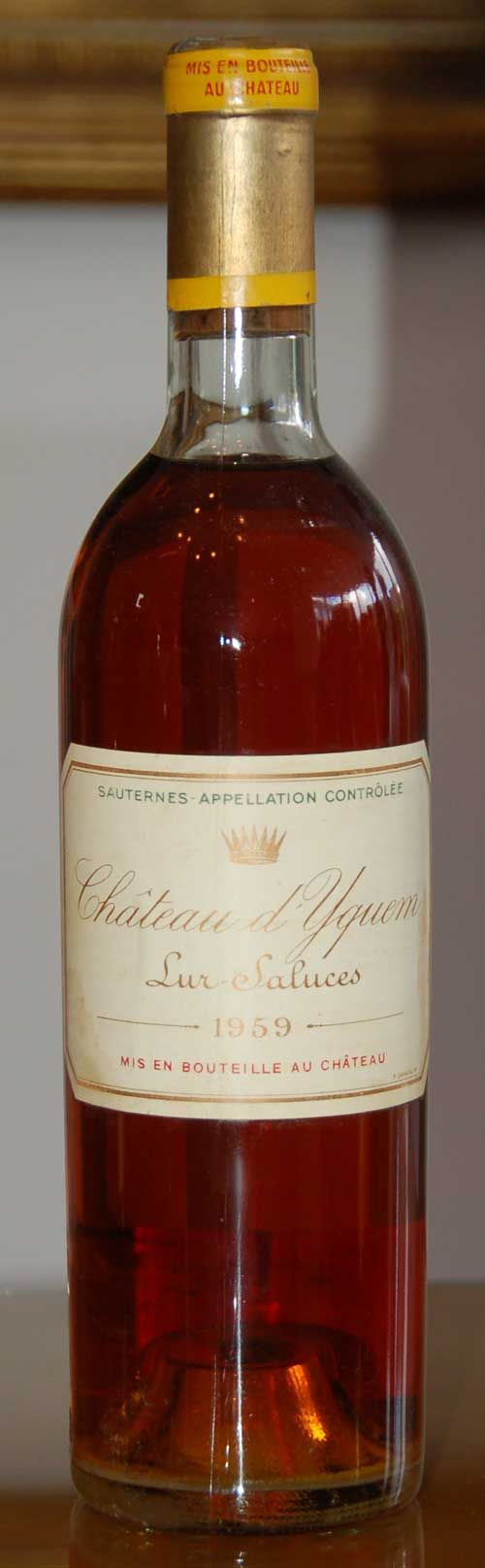 Vintage Yquem From Finest Rarest Wine Bottle Just Wine Wine Tasting