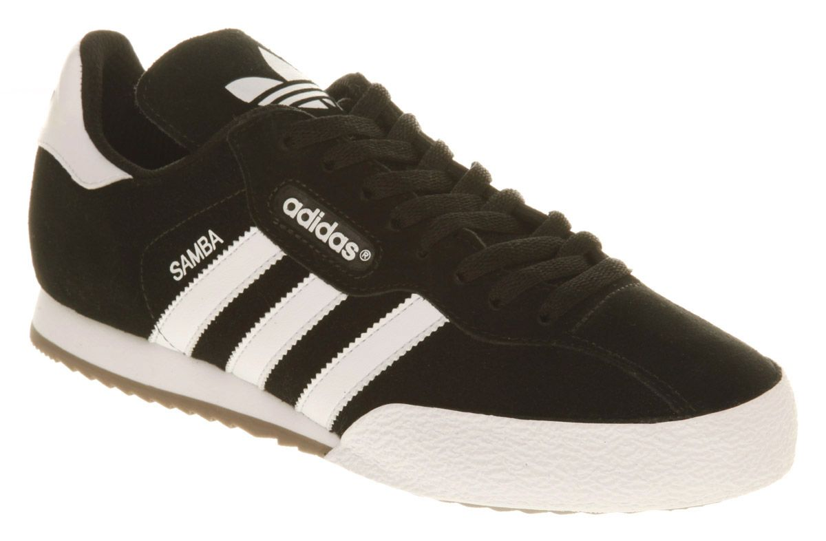 Details about Mens Adidas Samba Super Black Suede Trainers