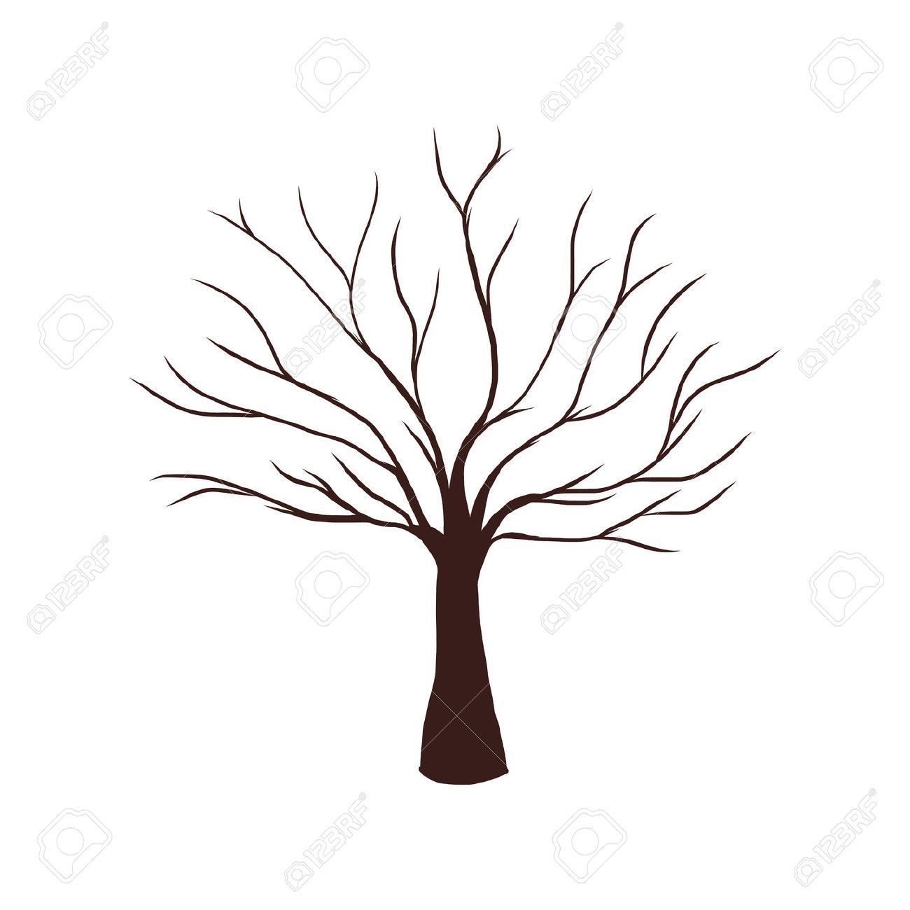 23860160 Dead Tree Without Leaves Vector Illustration Tree Silhouette Bare Jpg 1 300 1 300 Pixels Arbol De Otono Dibujo Arboles En Otono Dibujo De Arbol