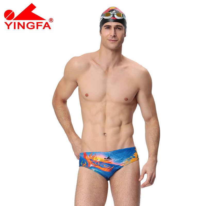 2c638c8dab YINGFA NEW Boys competitive swimwear kids swim briefs competition swimsuits  for men Professional swimsuit Triangle plus size