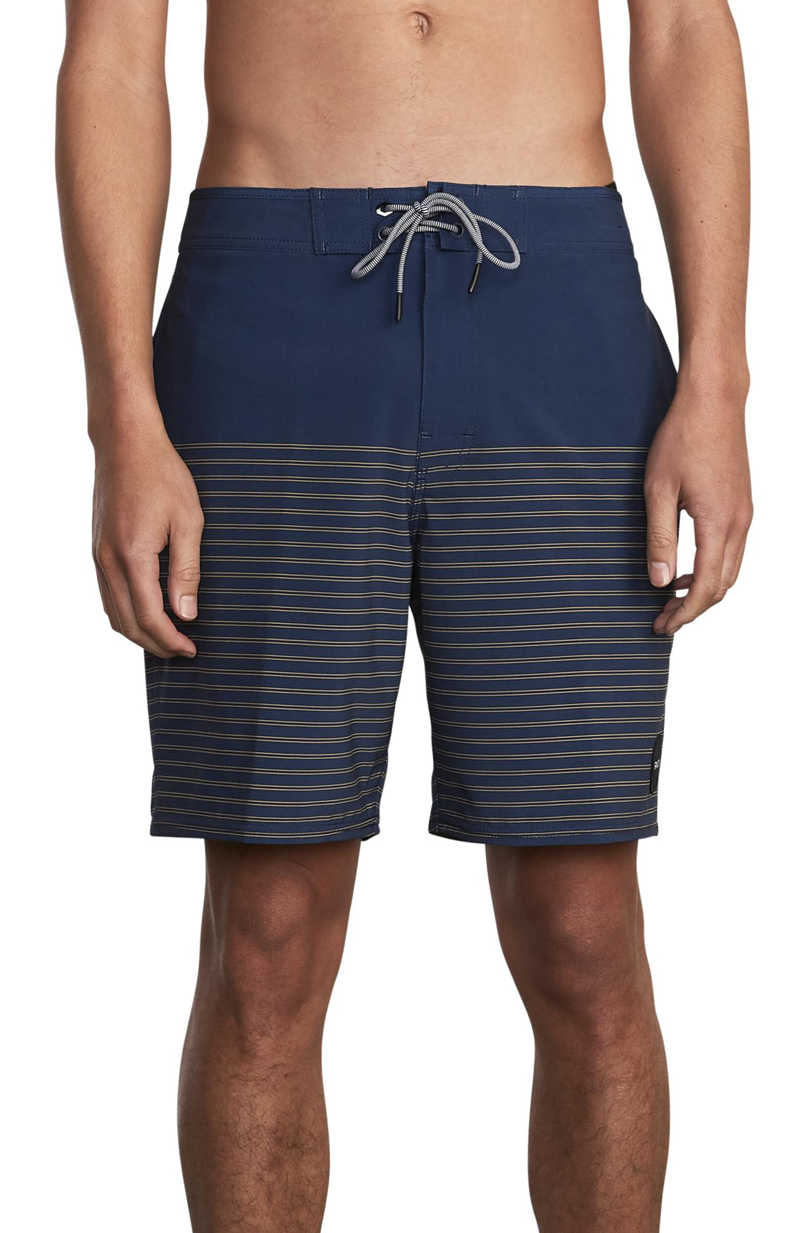 68a98e5830 Men's Rvca Curren Board Shorts, Size 30 - Blue Free shipping and returns on  RVCA