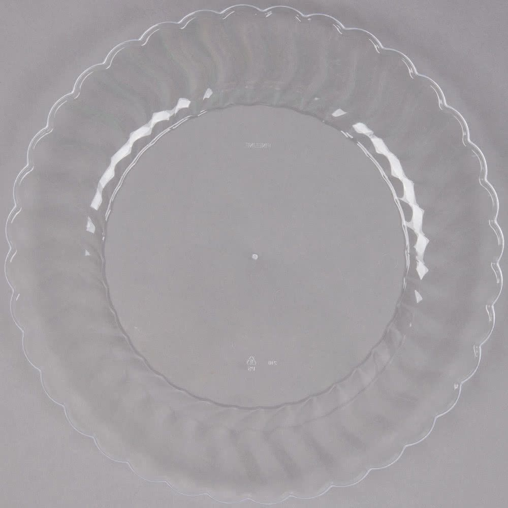 Add style and sophistication to your special event party or banquet with this Fineline Flairware 210-CL 10 1/4  clear plastic plate!  sc 1 st  Pinterest & Fineline Flairware 210-CL 10 1/4