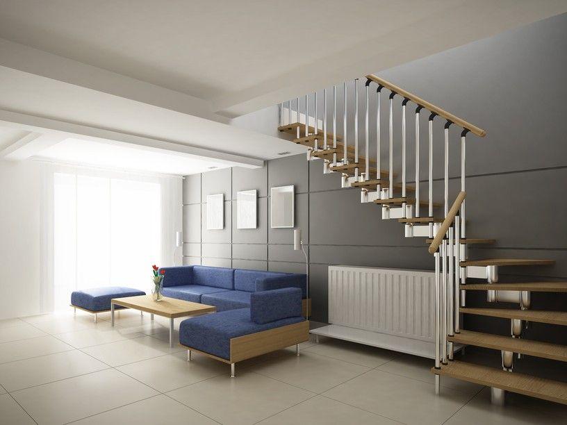 moderne treppe mit metall gel nder und h lzerne hand schienen und stufen 30 spektakul re. Black Bedroom Furniture Sets. Home Design Ideas