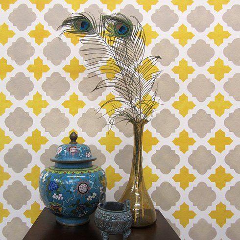 Cutting Edge Stencils - Moroccan Tiles Wall Pattern Stencil | apt ...