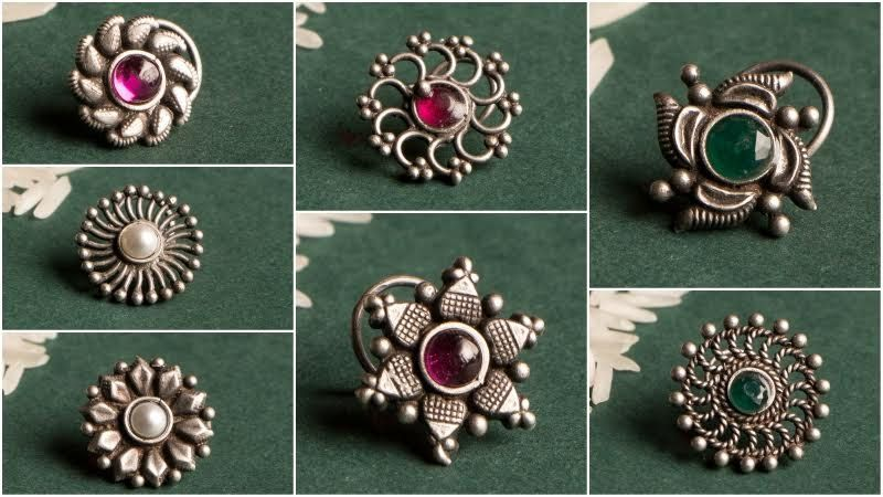 Round Shape Sterling Silver Body Piercing Lady//Girl Nose Pin