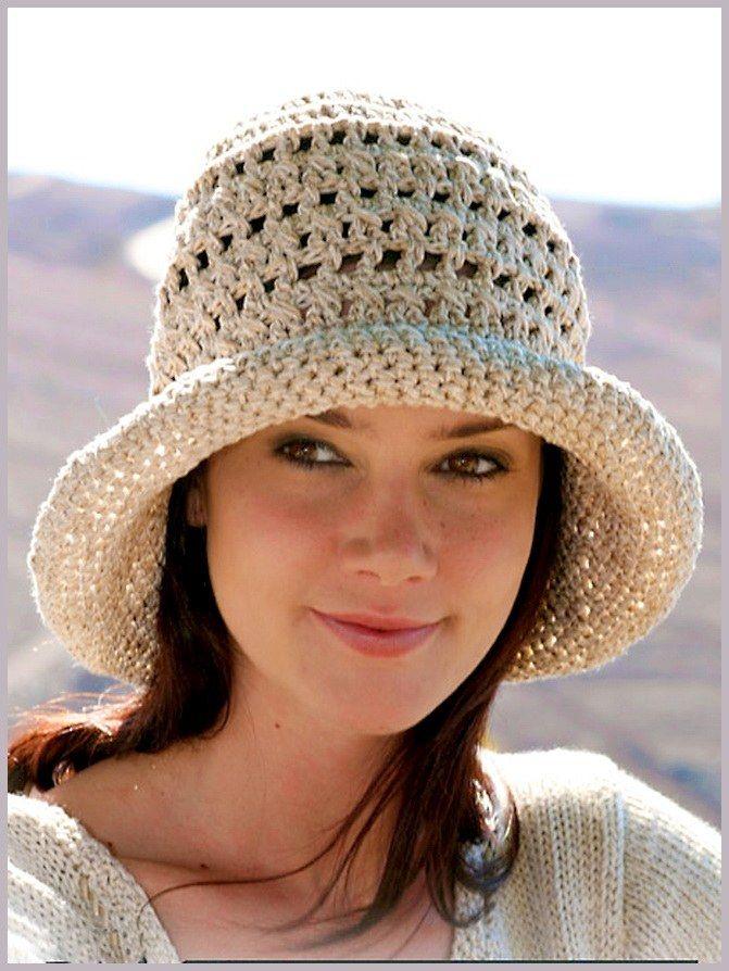 Как связать крючком женскую шляпу | Cappelli | Pinterest