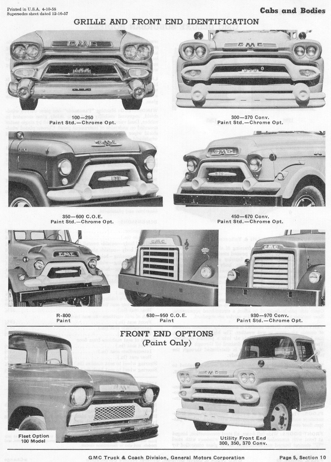 1958 Gmc Advertisements 58 Gmc Fleet Option Truck The H A M B