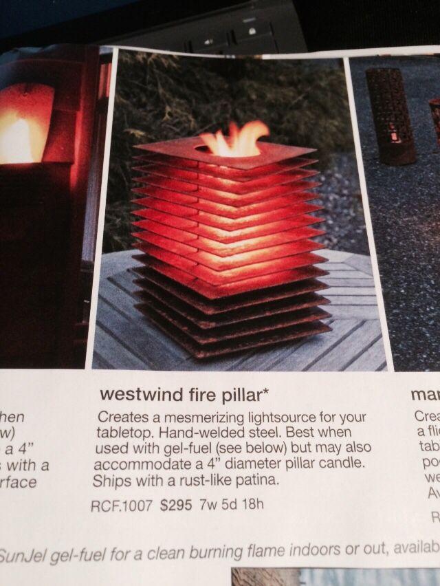 Thosbaker.com west wind fire pillar