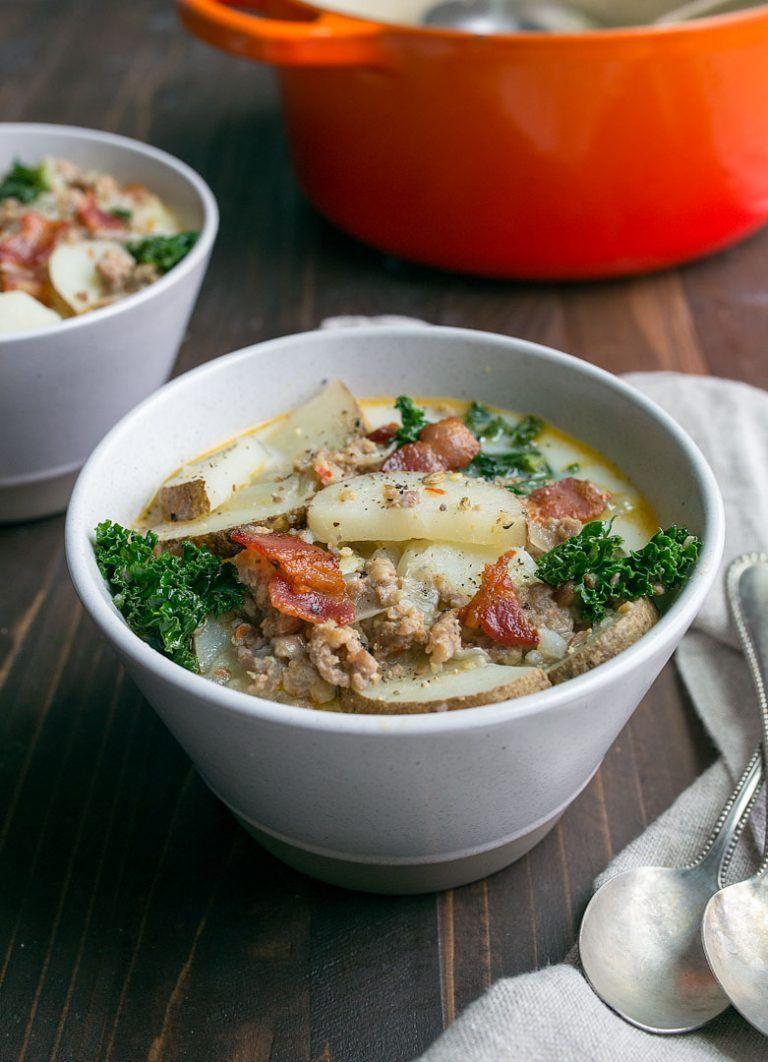 Zuppa Toscana Soup Olive Garden Copycat Recipe. Sausage