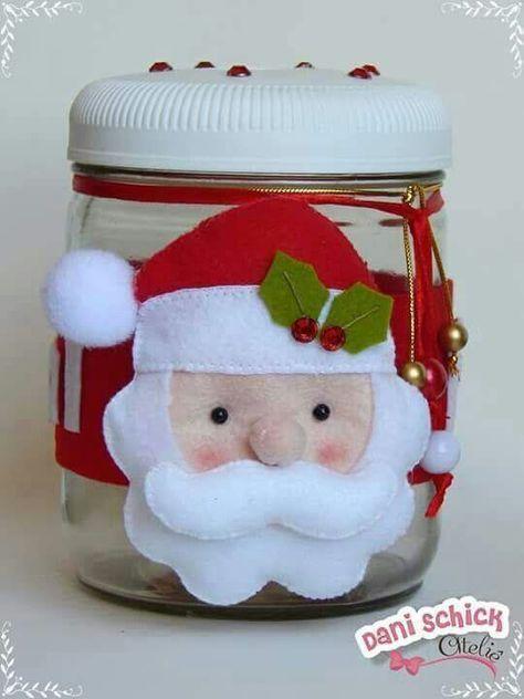 Aprende A Decorar Frascos De Vidrio Para Navidad Christmas Crafts Christmas Ornaments Crafts
