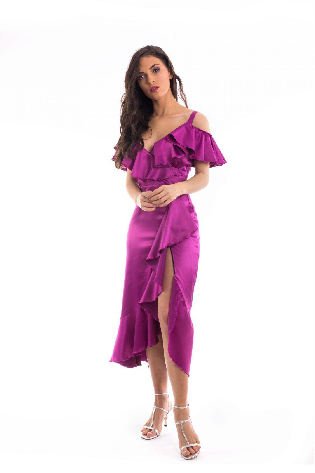 Vestido raso Púrpura | Pinterest | Raso, Púrpura y Boda tan