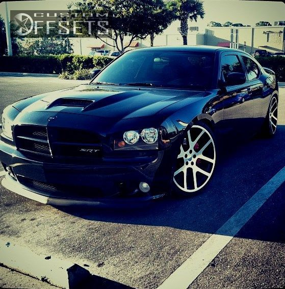 Wheel Offset 2008 Dodge Charger Tucked Dropped 1 3 Custom Rims Dodge Charger Dodge Sports Car Charger Wheels