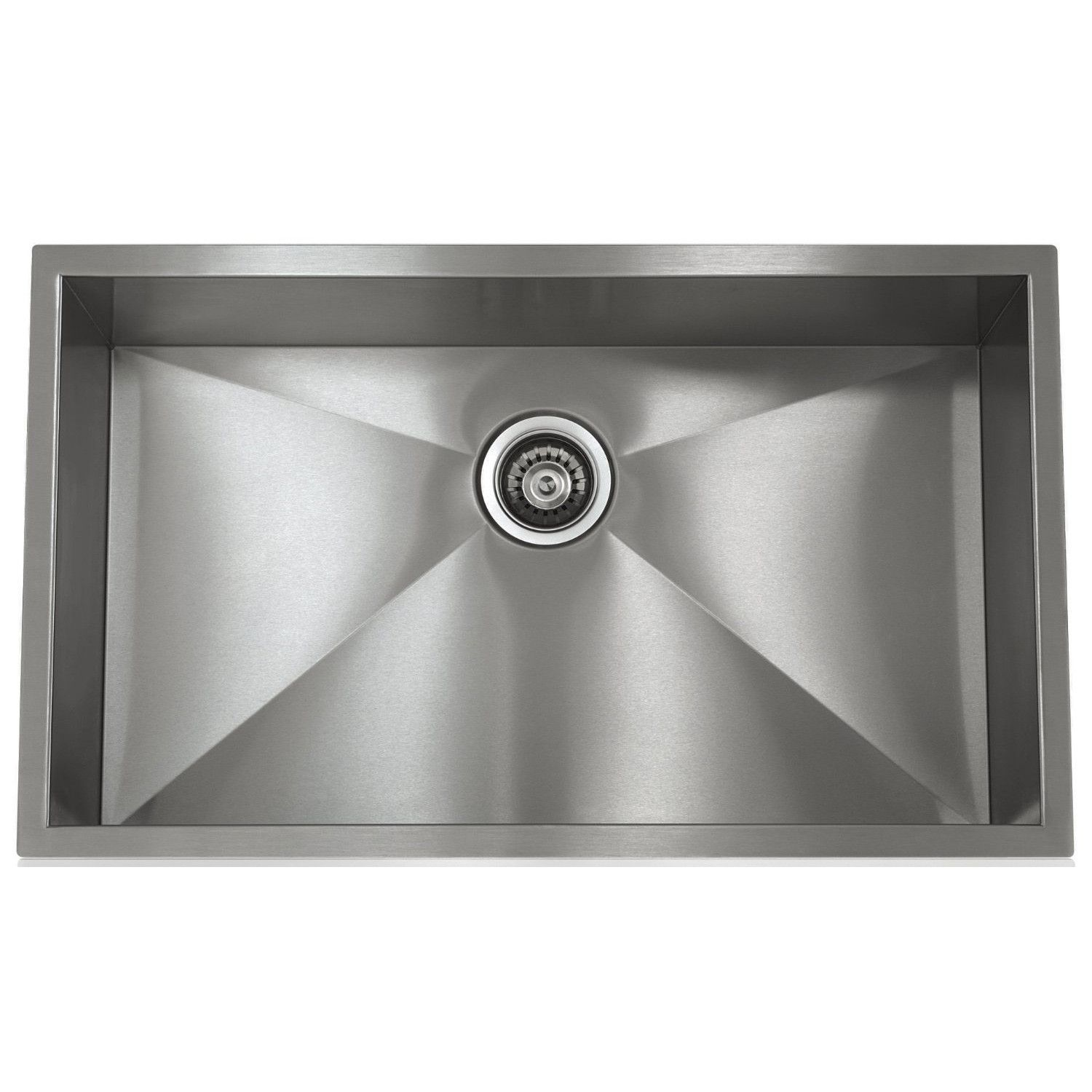 Lenova Ss 0ri S5 28 Inch Undermount Single Bowl 16 Gauge Stainless Steel Kitchen Sink Undermount Kitchen Sinks Stainless Steel Kitchen Sink Kitchen Sink