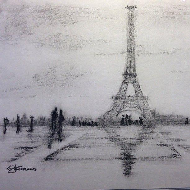 landscape charcoal sketches - photo #29