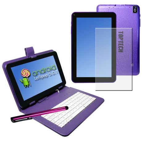 """Top Tech Audio 9"""" Android Tablet Pc Blue Purple"""
