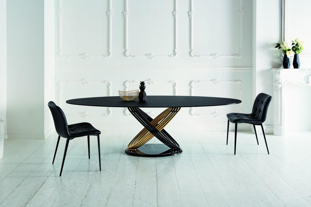 Tavolo Nero ~ Bontempi tavolo fusion nero tables et chaises
