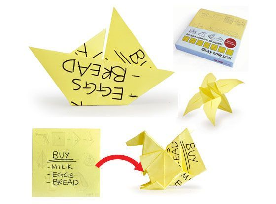 Origami Sticky Notes Amazon A Little Something For Those Dull