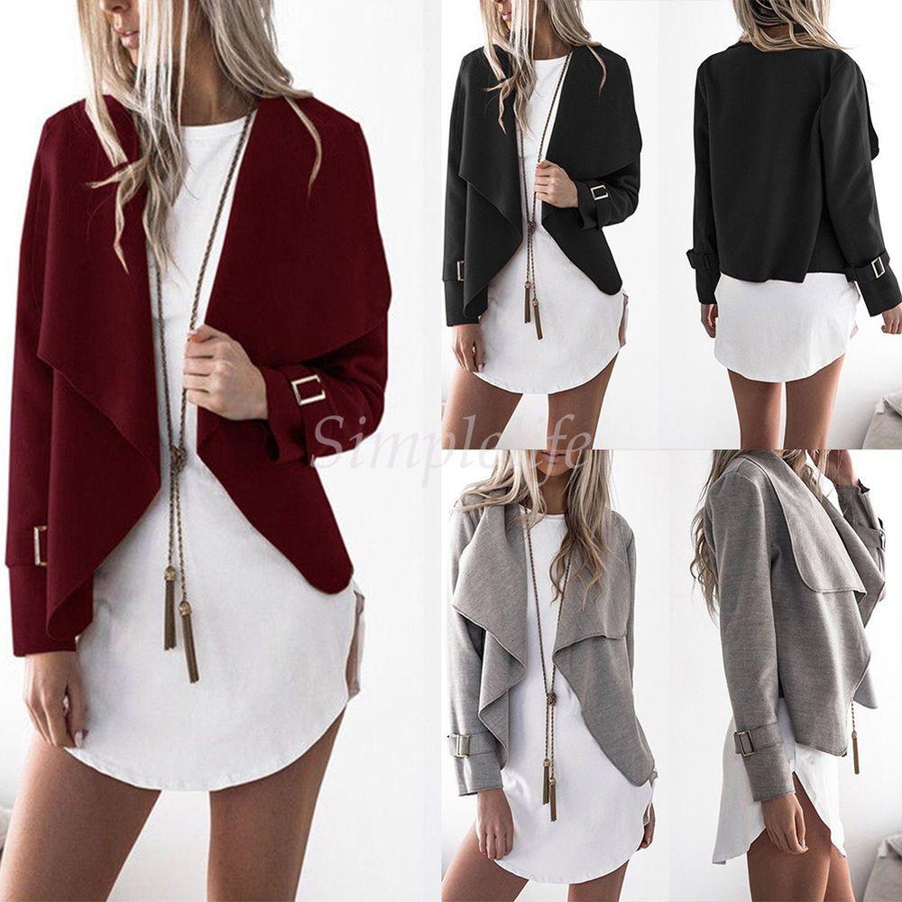 Winter Warm Women Faux Collar Short Coat Leather Jacket Parka ...