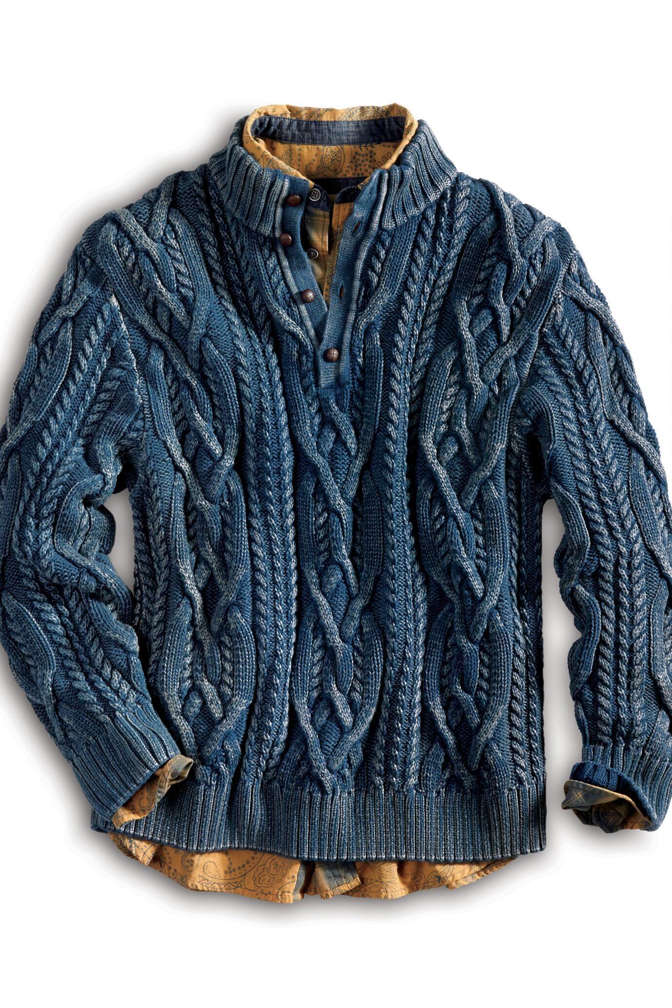 Cumulonimbus Indigo Cable Mockneck Sweater Territory
