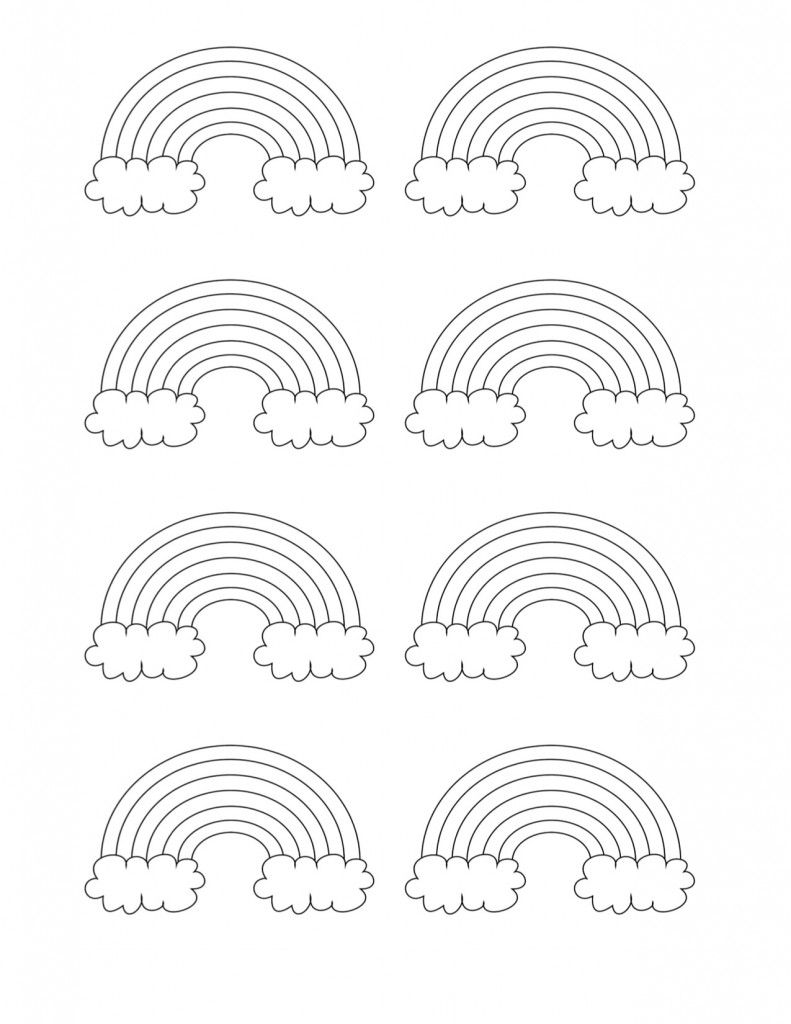 Free Printable Rainbow Templates Large Medium Small Patterns Printable Coloring Pages Coloring Pages For Kids Rainbow Pattern
