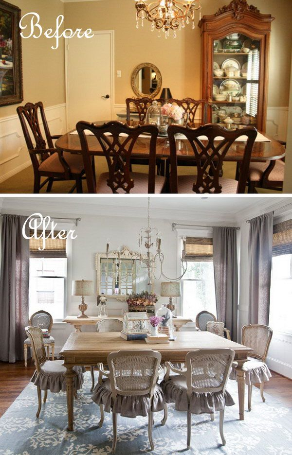 Budget Dining Room Makeover How To Get The Soft Look With