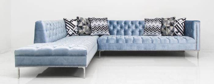 : velvet sofa sectional - Sectionals, Sofas & Couches