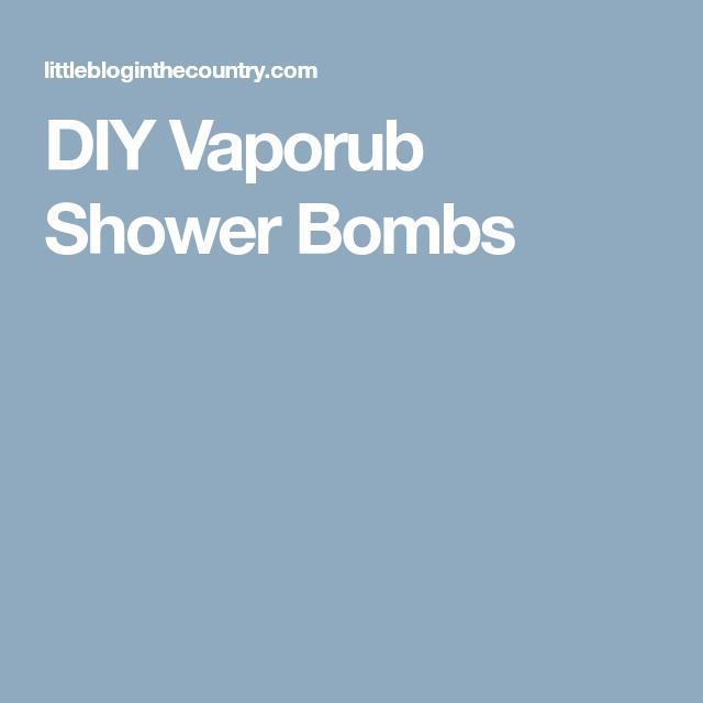 DIY Vaporub Shower Bombs