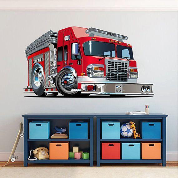 Kids Fire Truck Wall Decals Gigantic Fire Truck Wall Stickers 3d Fire Truck Wall Stickers Fire Truck Sticker Art Boys Wall Decal Kcik1544 Boys Wall Decals Kids Wall Decals Wall Decals