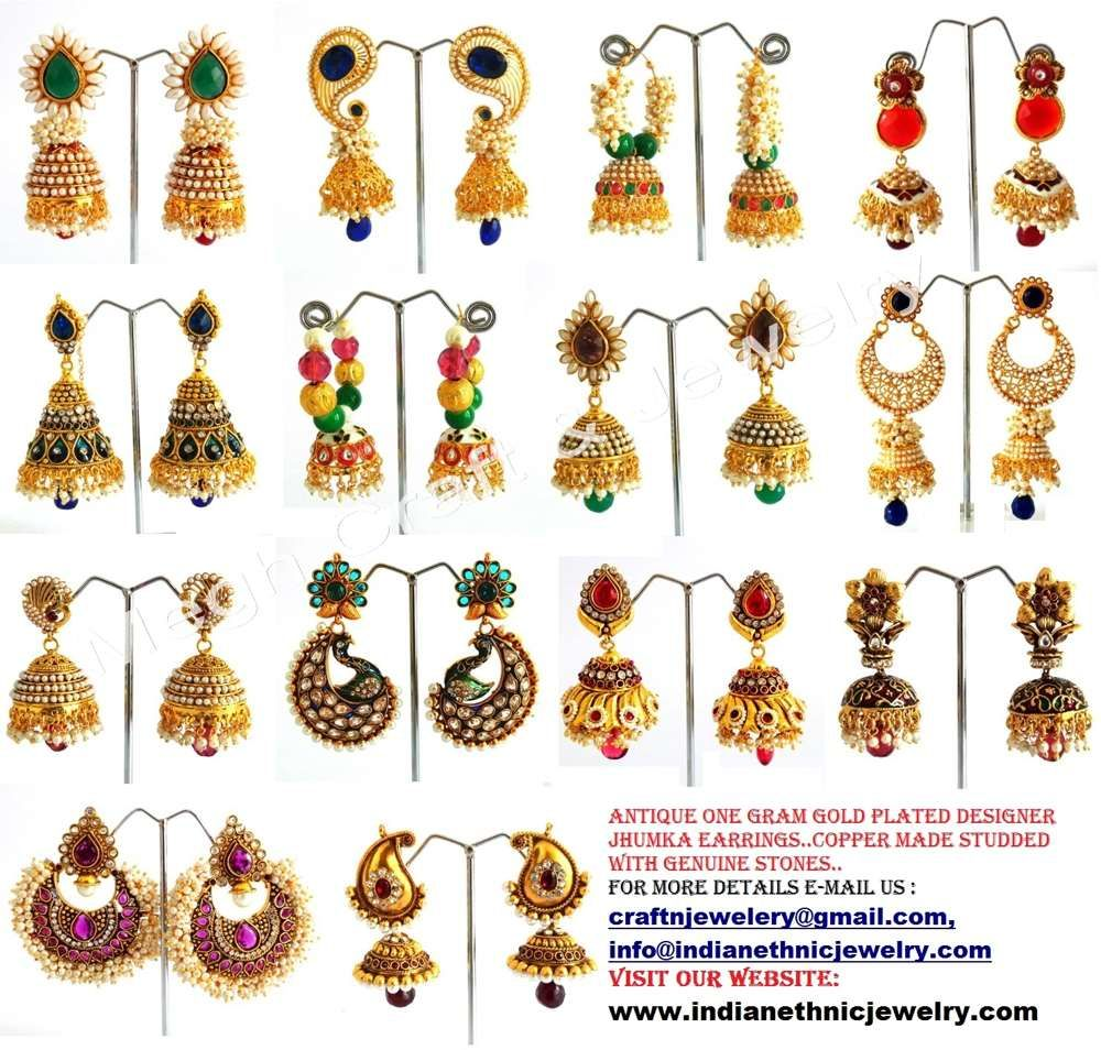 One Gram gold Indian Bollywood Earrings collection ...
