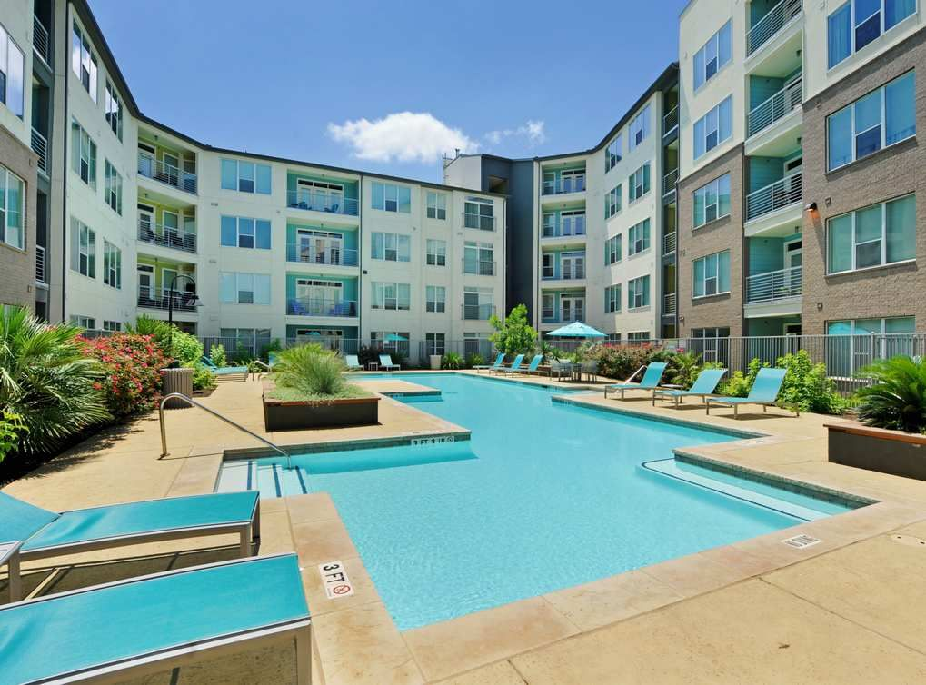 Residents Will Enjoy A Resort Style Swimming Pool At AMLI South Shore  Apartments In Downtown