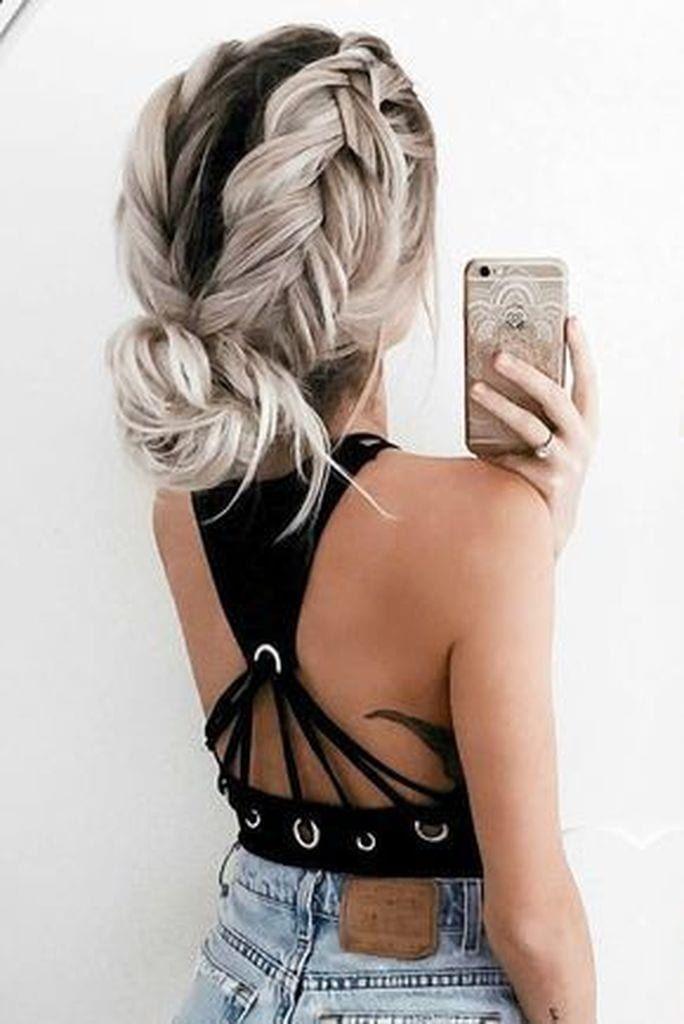 16 hairstyles Semirecogido trenza ideas