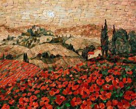 Image result for tuscan scenery art