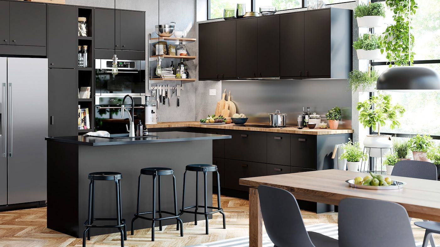 An Eco Friendly And Functional Kitchen In 2020 Recycled Kitchen Kungsbacka Kitchen Design