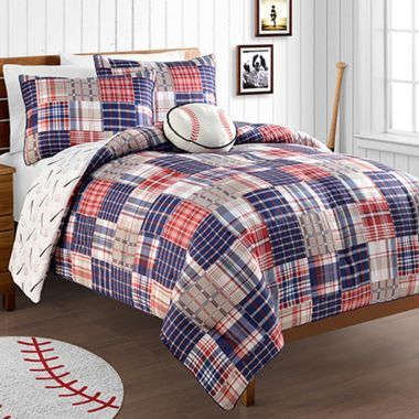 Baseball Home Run Reversible Comforter Set Comforter Sets Baseball Bed Boys Bedding Sets