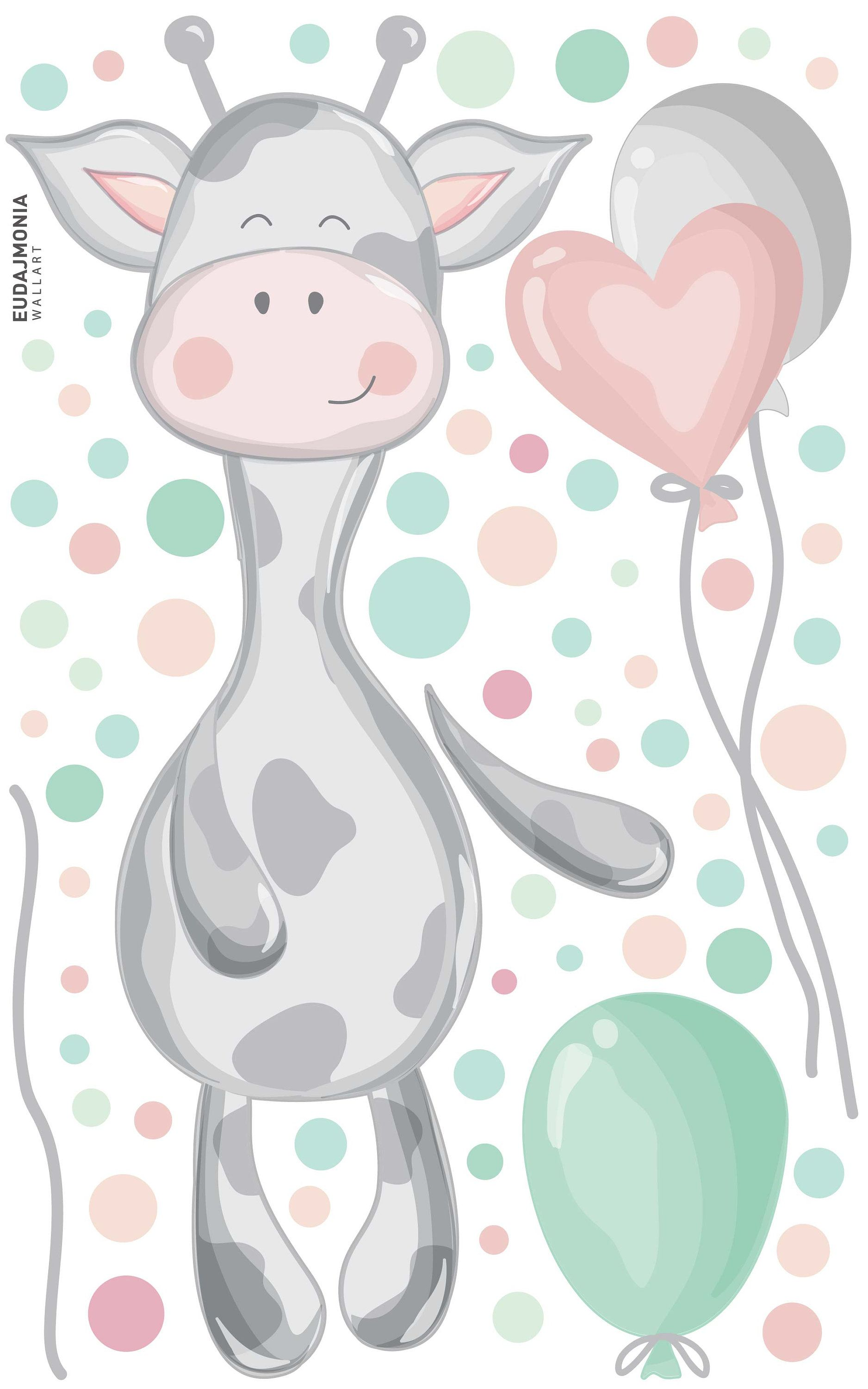 wall decal for kids dots balloons cow 2020 dekor on wall stickers for kids id=80437