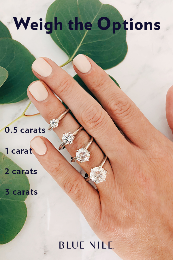 Compare Diamond Carat Weights On A Classic Six Prong Solitaire Engagement Ring Setti Simple Wedding Rings Engagement Wedding Rings Simple Best Engagement Rings