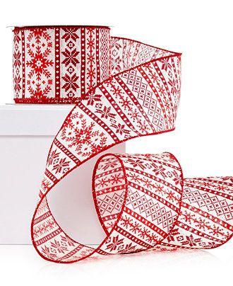 Holiday Lane Nordic Ribbon Decoration - Christmas Decorations - Holiday Lane