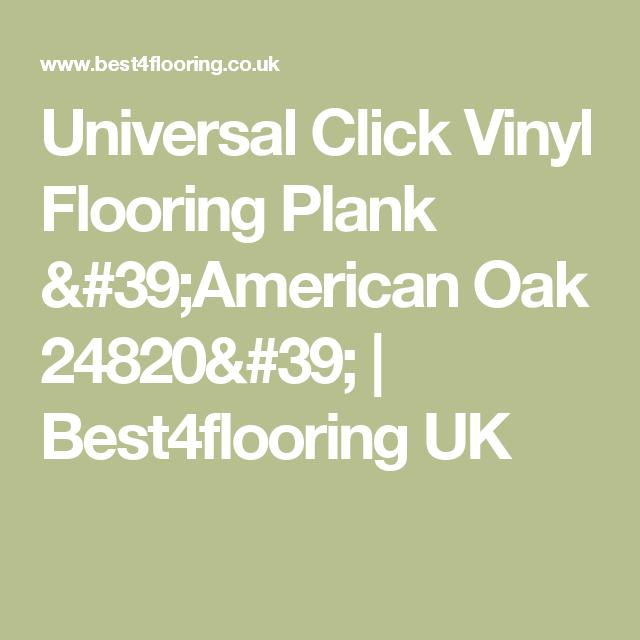 Universal Click Vinyl Flooring Plank