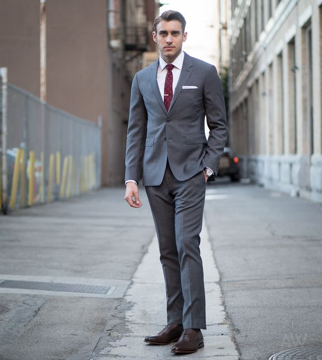 Ashley-Weston-2-Button-Gray-Notch-Lapel-Suit-Look-3-Full | Fashion ...