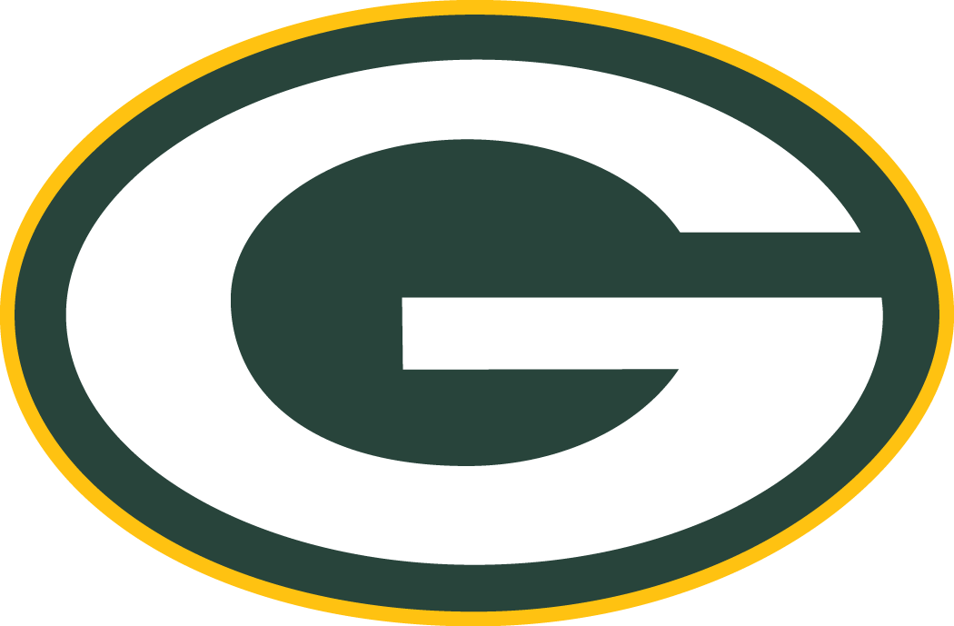 Green Bay Packers Primary Logo (1980) - White G in green oval with ...