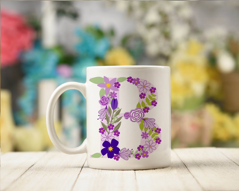 Monogram ceramic mug the perfect bridesmaid gift for her
