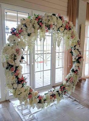Ircle wedding arch decoration examples also round circle in busi pinterest rh
