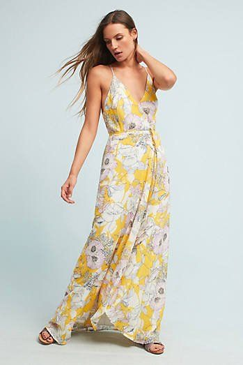 1edcd7f53f2 Yara Silk Yellow Maxi Dress