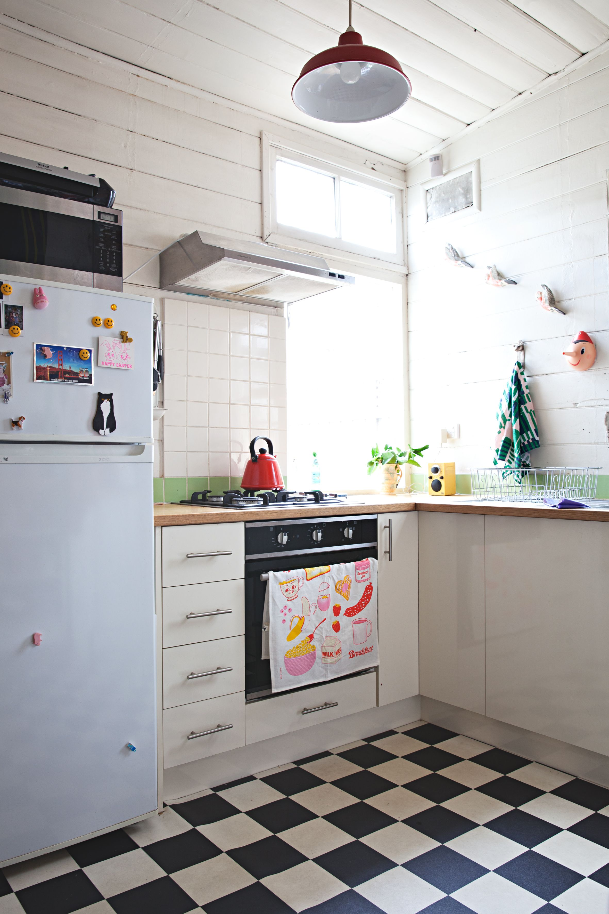 Sisters share a playful patterned melbourne home kitchens house