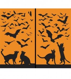 halloween window clings madeinusa - Window Clings Halloween