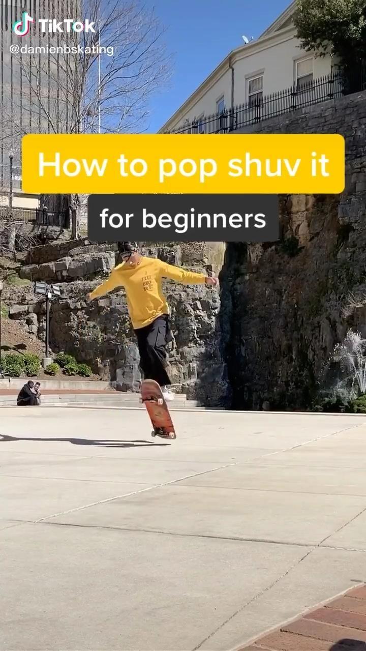 How To Pop Shove It Video In 2020 Skateboard Girl Skateboard Videos Skateboard