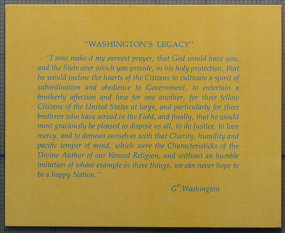 WashingtonS Legacy  George Washington  Letter Quotation
