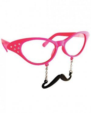 Sun Staches Cat Eye Rhinestone Glasses - These cute and quirky glasses are  perfect for a 609f009f4c57