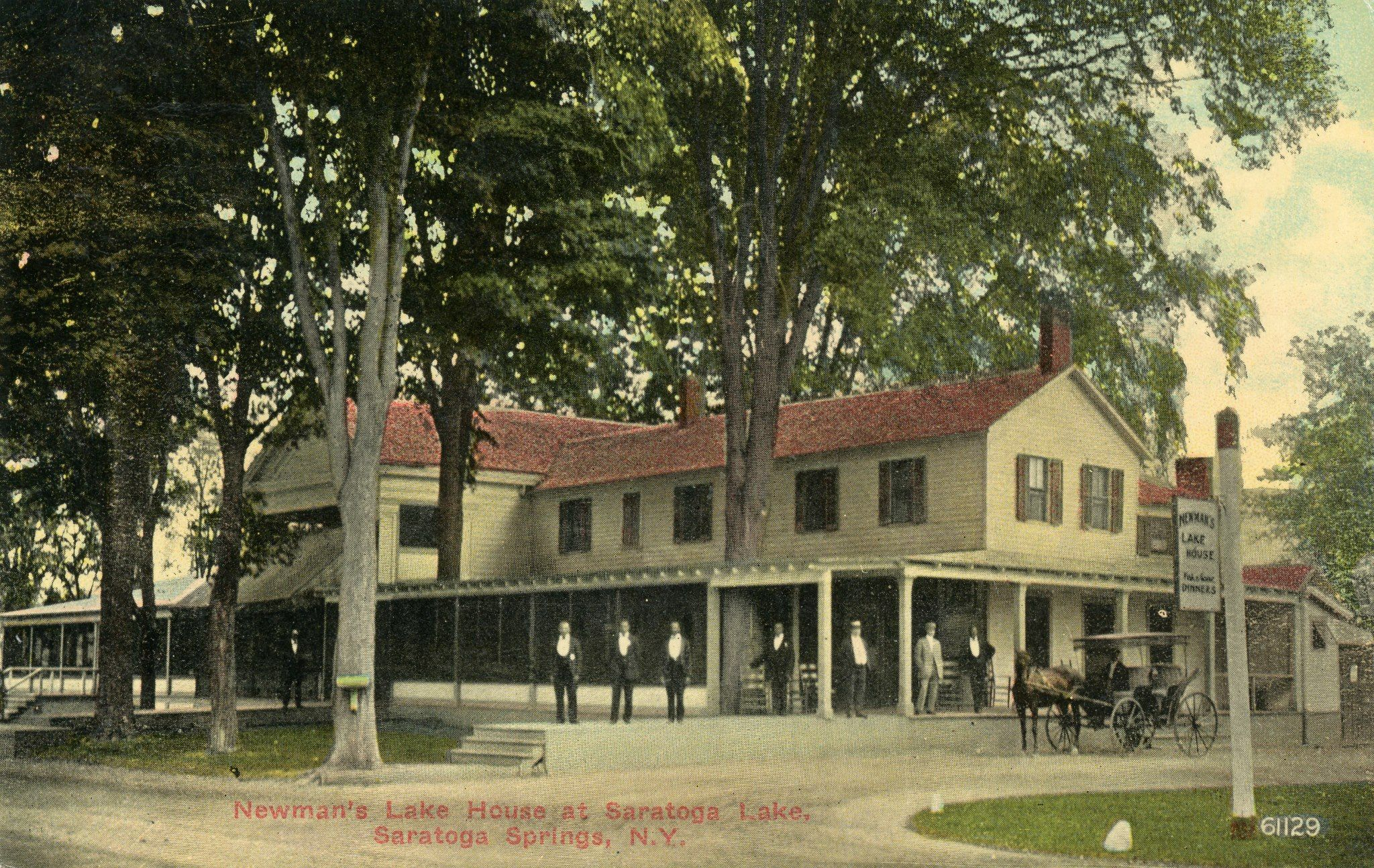 Newman\'s Lake House on Saratoga Lake. Post Card postmarked 10 July ...