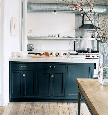 Kitchen Cabinets. Seeeeee I Told Ya Black Could Work;p